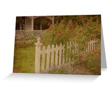 House with the white picket fence # 3 Greeting Card