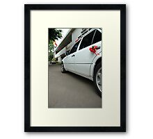 wedding car Framed Print