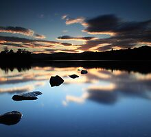Sunset Clunie Loch by Angus Clyne
