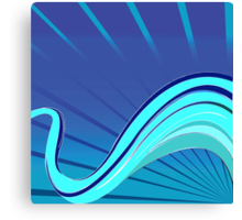 Blue waves vector Canvas Print