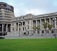 """The Beehive"" - Parliament, Wellington, New Zealand by Nicolette Gregory"