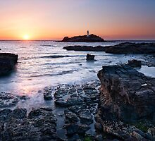 Cornwall - Godrevy Lighthouse by Michael Breitung