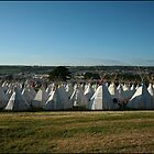 teepee field Glastonbury 2010 by availablelight