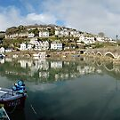 Looe Harbour by Hans Kool