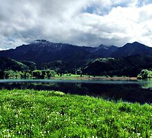 Lake, mountains and countryside. Germany. by Daidalos