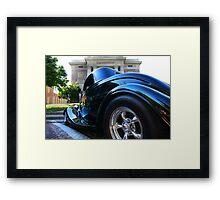 """"""" The Tire POV """" Framed Print"""