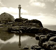 Cape Forchu Lighthouse, Yarmouth, NS by Harv Churchill