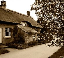 Baslow Thatched Cottage v2 by David J Knight