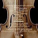 violin with words A.H. Overstreet © 2010 patricia vannucci by PERUGINA