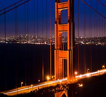 The Golden Gate At Night by Radek Hofman