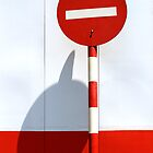No entry sign in the afternoon sun by MadsMonsen