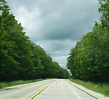 Driving through Heaven - Michigan's Upper Peninsula Highway M-123 by BarbL