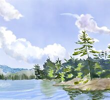 Nearly Perfect Afternoon a digitally painted watercolour by Joan A Hamilton by Joan A Hamilton