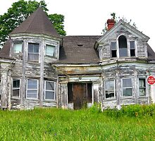Abandoned House, Route 1, Searsport, Maine by fauselr