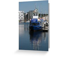 The Orwell Lady, Ipswich Waterfront Greeting Card