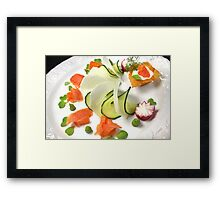 Smoked Trout with Friends Tricolore Framed Print