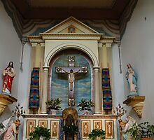 Alter area of Ysleta Mission Church by boopfto