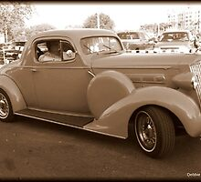 Packard 30s Touring Coupe in Sepia by Debbie Robbins