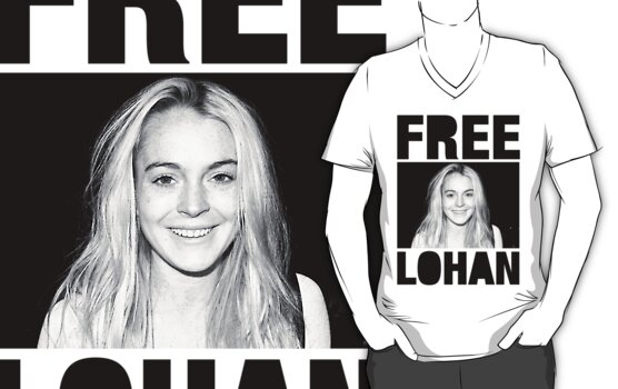FREE LOHAN v-neck by electrictees