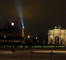 The Louvre at Night - Paris by AshyiaFrancis