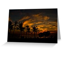Sunset at Legian Greeting Card