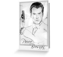 Pierce Brosnan portrait Greeting Card