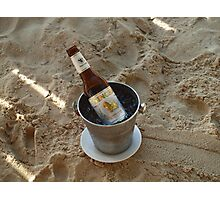 Beer Ice Bucket Photographic Print