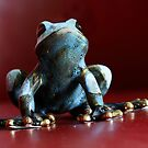 Macro Ceramic Frog by Mark Baldwyn