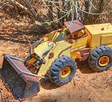 Yellow Bulldozer by Herman Hodges