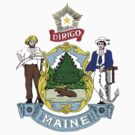 Maine State Seal by GreatSeal