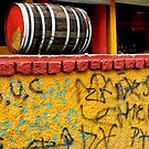 A Barrel of Graffiti On The Wall by paintingsheep