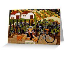 """At The Winery"" Greeting Card Greeting Card"