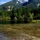 Lake Hintersee. Mountain Hochkalter. by Daidalos