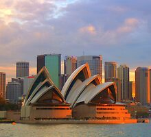 Sydney Opera House at sunset by elfike