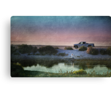 At the End of a Long, Hard Day Canvas Print