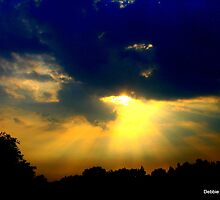 God's Rays Sunset by Debbie Robbins
