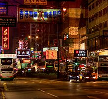 Hong Kong Night Street by mosej
