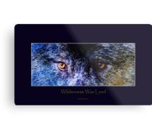 Grey Wolf Eyes III Art Poster Metal Print
