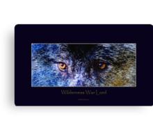 Grey Wolf Eyes III Art Poster Canvas Print