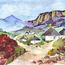 Zulu Huts by Maree Clarkson