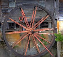 The Old Mill Water Wheel by David Owens