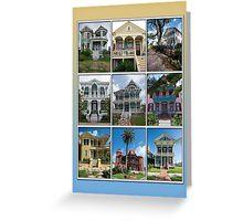 Victorian Homes of Galveston Island Greeting Card