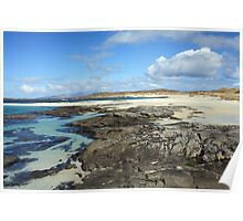 Sanna Bay Beach on the Arnamurchan Penninsula. Poster