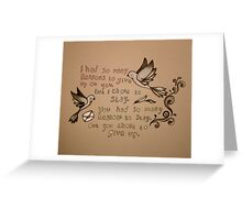 give up Greeting Card