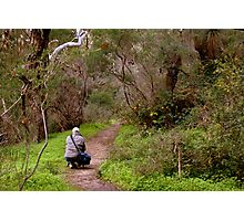 Another photographer on location - Morialta Conservation Park, South Australia Photographic Print