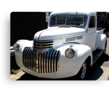 1946 old chevy truck -front full Canvas Print