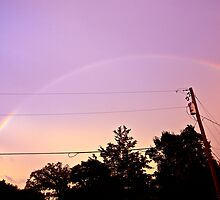 Power Line Rainbow by Dr. Charles Taylor