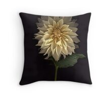 Cafe Au Lait Dahlia Throw Pillow