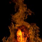 Kristy In Flames by Nigel Donald