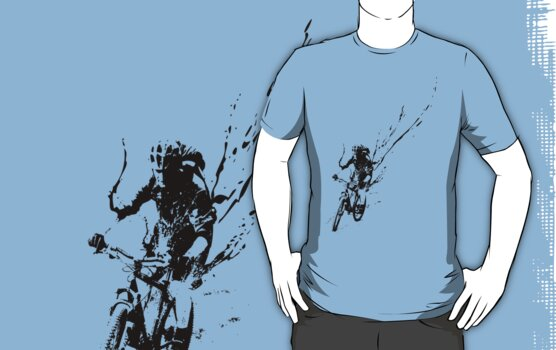 mountain bike splatter by fourfootsquare